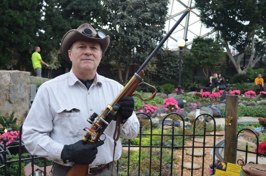 Chuck Ranum & The Barbicane Rifle. Photo by Jack Fennimore.
