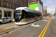 The Hop, Milwaukee's streetcar system, on N. Broadway. Photo by Jeramey Jannene.