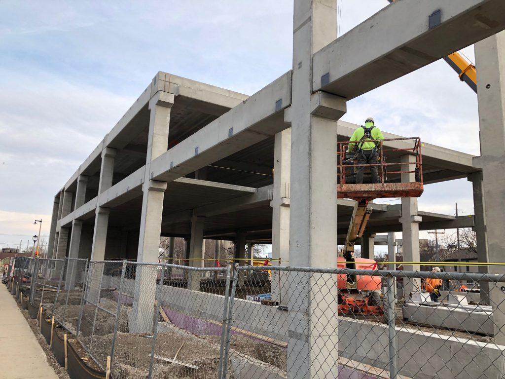 Construction of KinetiK. Photo by Jeramey Jannene.