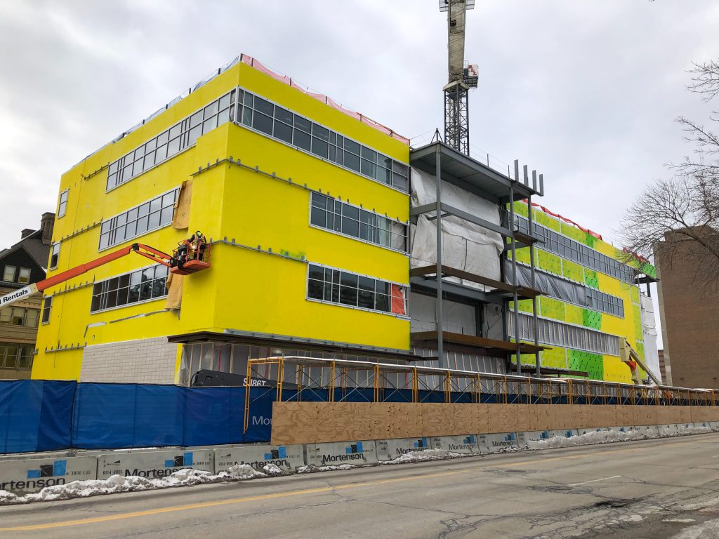 Diercks Hall construction. Photo by Jeramey Jannene.