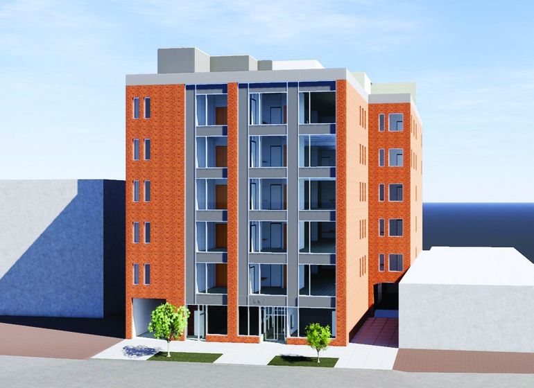 Rendering of 1442 N. Farwell Ave. Redevelopment. Rendering by Anderson Ashton.