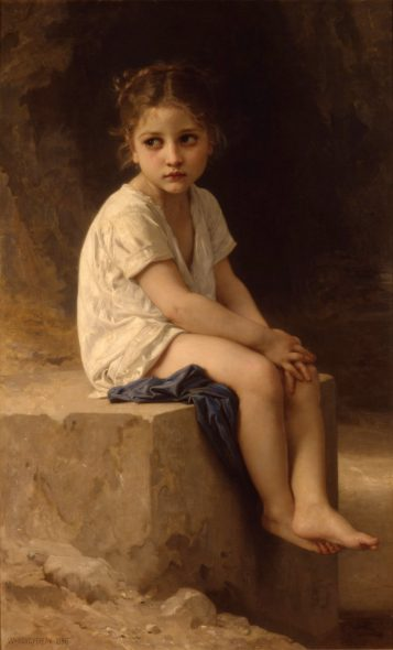 At the Foot of the Cliff by William-Adolphe Bouguereau.