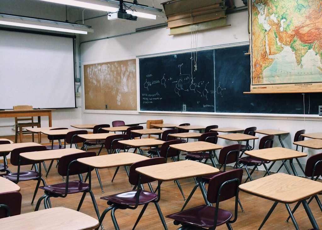 School classroom. Image by Wokandapix on Pixabay