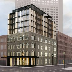 Broadway Hotel. Rendering by Vetter Architects.