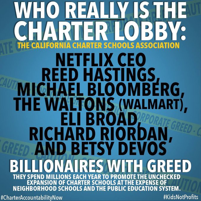 Who really is the charter lobby: The California Charter Schools Association.