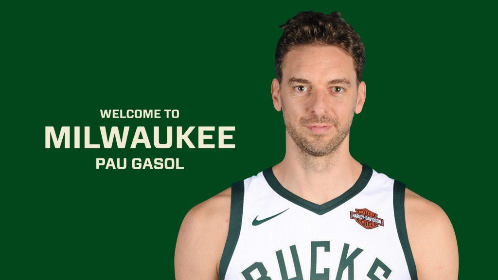 Pau Gasol. Photo from Milwaukee Bucks.
