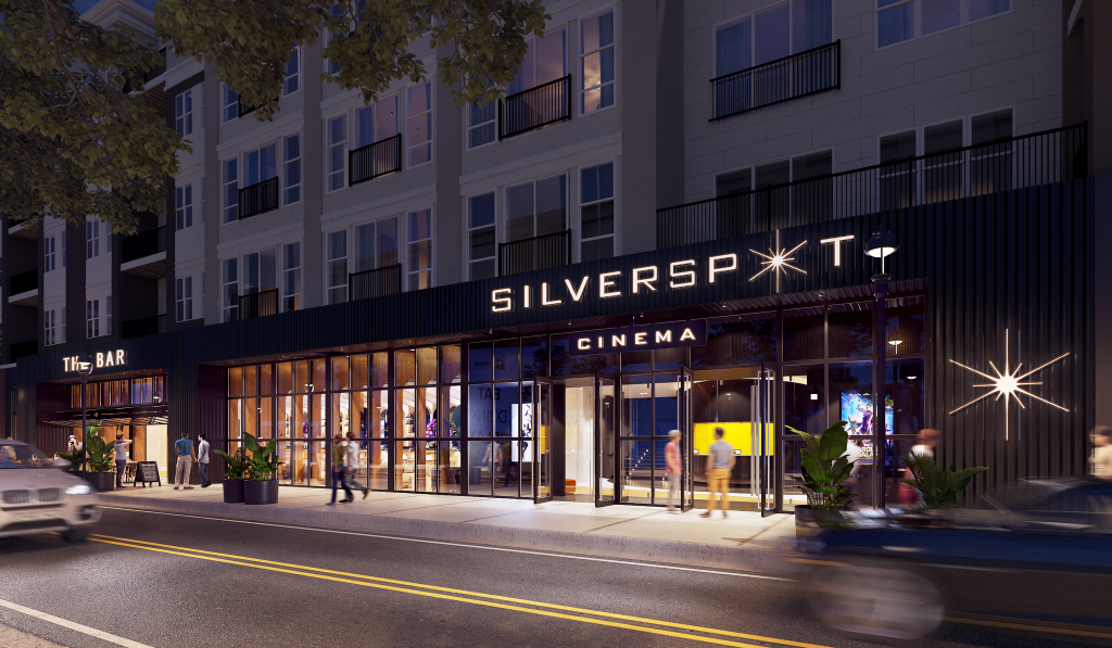 Silverspot Cinema. Rendering courtesy of The Corners of Brookfield.