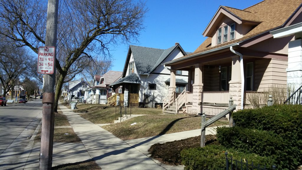 Homes on Keefe Avenue. Photo taken March 25th, 2019 by Carl Baehr.