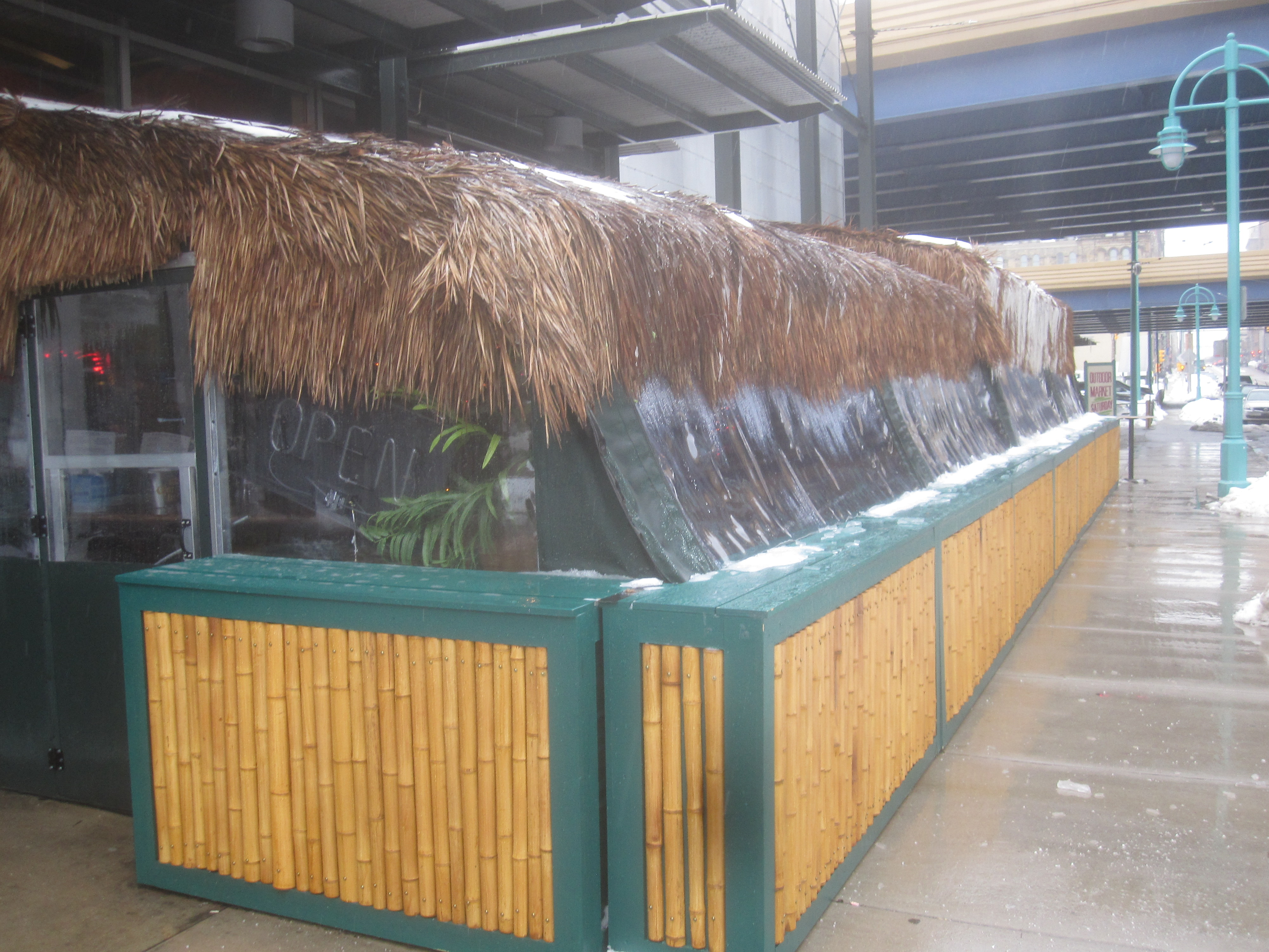 St. Paul Fish Company Palapa Bar. Photo by Michael Horne.