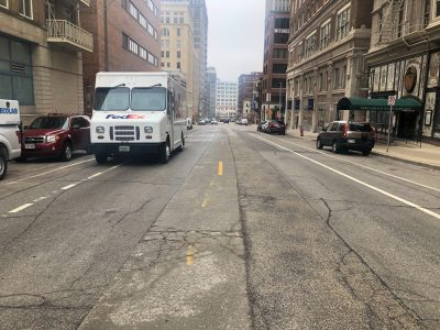Transportation: Study Finds Danger in Painted Bike Lanes