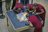 Mandala being created. Photo courtesy of Early Music Now.