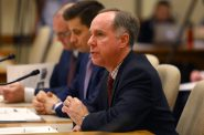 Assembly Speaker Robin Vos, R-Rochester, says he opposes most of Evers' plan regarding marijuana. He is seen here during a 2018 hearing at the state Capitol. Photo by Coburn Dukehart / Wisconsin Center for Investigative Journalism.