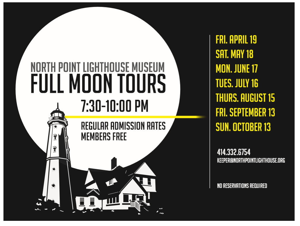 Full Moon Tours Begin April 19, 2019 at North Point Lighthouse