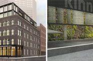 Kinn Hotel Living Wall plan. Renderings by Vetter Architects.
