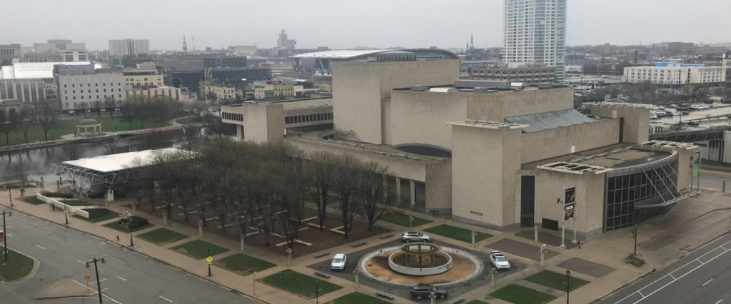 Marcus Center for the Performing Arts in April 2019. Photo from the City of Milwaukee.