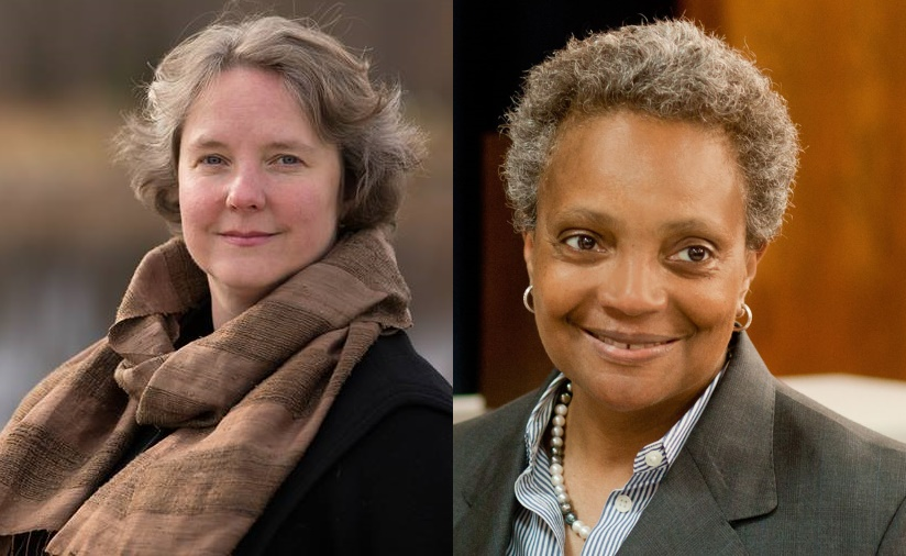 Satya Rhodes-Conway and Lori Lightfoot.