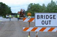 Work is finishing up on the County Highway H bridge rehabilitation in Phillips, Wisconsin. Price County Highway Commissioner Don Grande says delays pushed back the project by eight years. Photo by Rich Kremer/WPR.