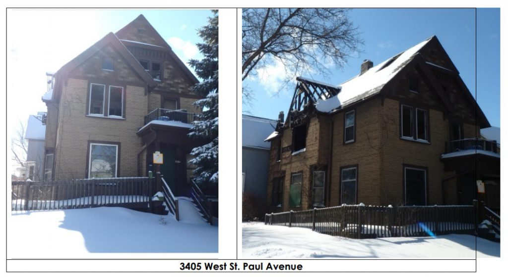 3405 W. St. Paul Ave. Photo from City of Milwaukee report.