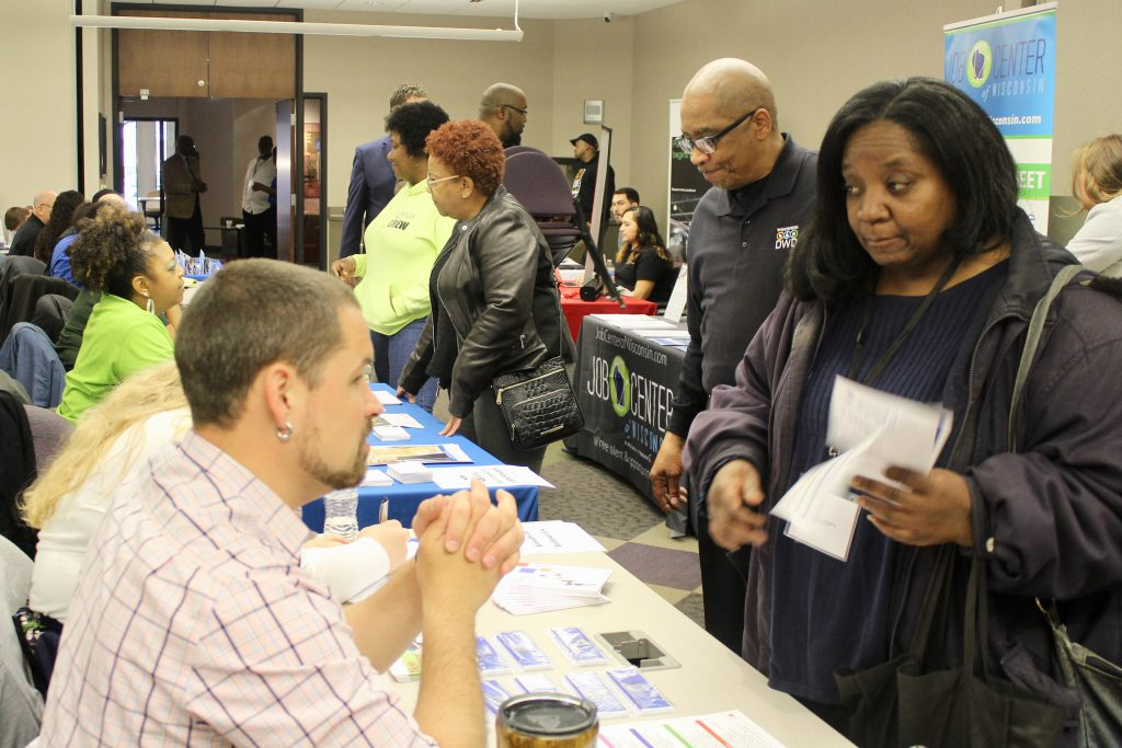 Wednesday's first Home to Stay event connected individuals returning from incarceration with 16 employers and 30 resources. Photo by Allison Dikanovic/NNS.