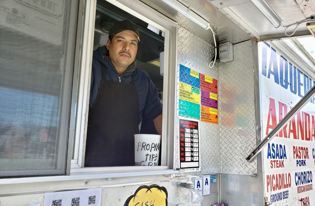 Francisco Santos, owner of Taqueria Arandas, says he's lost business since moving to his new location on S. 22nd Street and West Greenfield Avenue. Photo by Edgar Mendez/NNS.