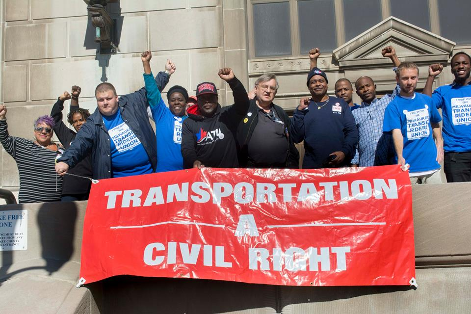 The Milwaukee Transit Riders Union wants to see bus service improved not reduced. Photo courtesy of the Milwaukee Transit Riders Union.