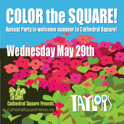 Annual Party to Welcome Summer to Cathedral Square!