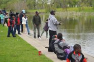 Fishing at Washington Park Pond. Photo by Jack Fennimore.