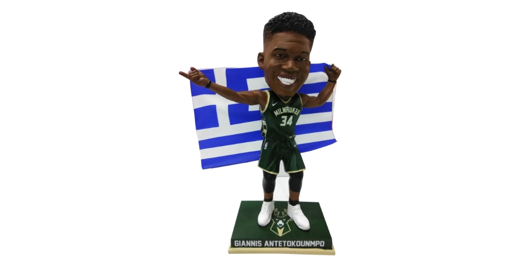 Giannis Antetokounmpo Bobblehead. Photo courtesy of the National Bobblehead Hall of Fame and Museum.