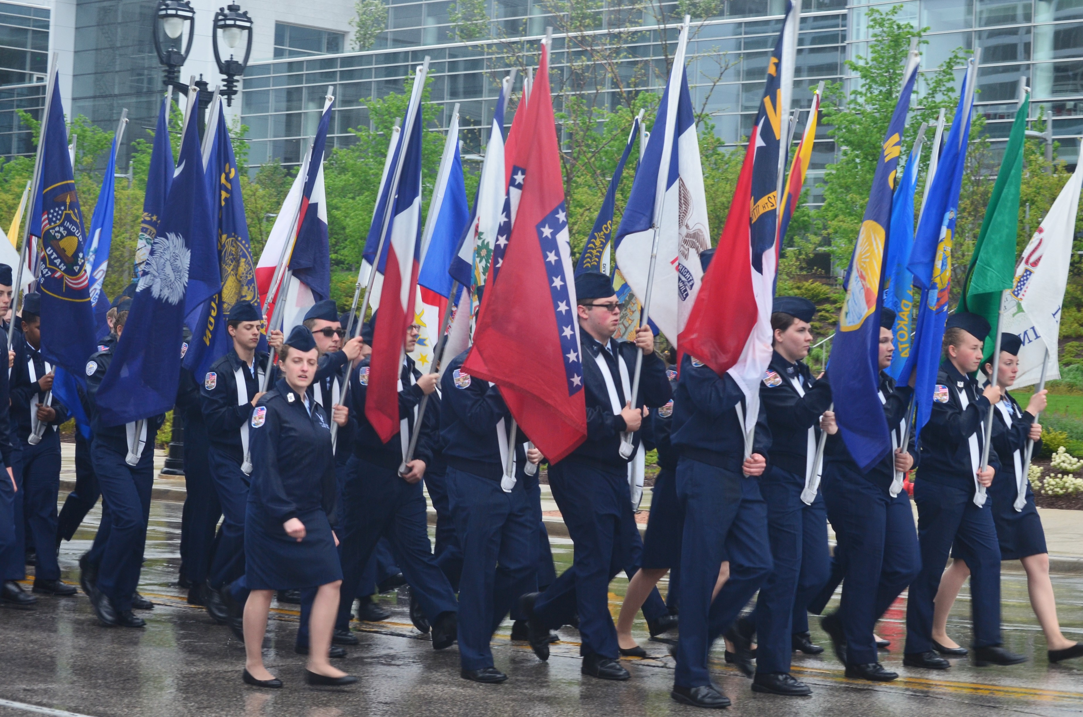 Air Force Junior ROTC members from Greenfield High School. Photo by Jack Fennimore.