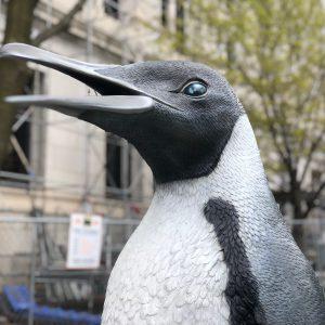 """Penguin"" by artist John Baldessari. Photo by Jeramey Jannene."