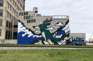 Fear the Deer mural. Photo taken by Jeramey Jannene.