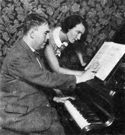 Composer Erwin Schulhoff and dancer Milča Mayerová, ca 1931. Photo is in the Public Domain.