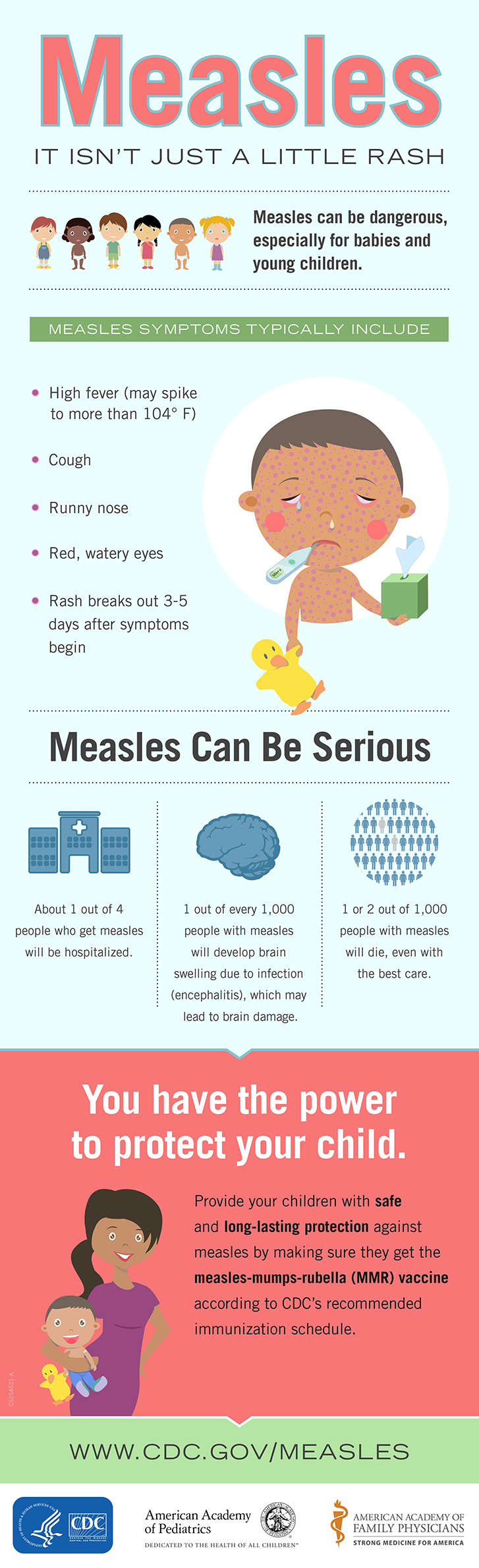 Centers for Disease Control and Prevention The symptoms of measles can resemble those seen in other illnesses.
