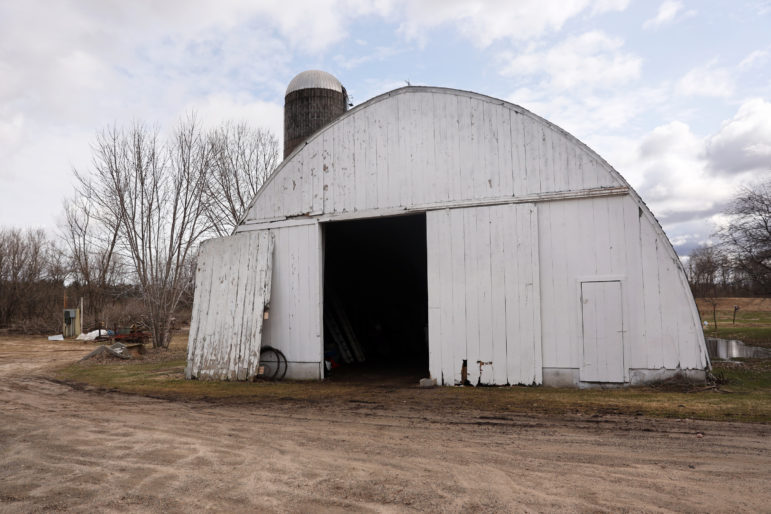 The Testaberg family of River Falls, Wis., plans to use this barn as a space for research and development, including cryotechnology to freeze their hemp plants. Photo by Emily Hamer / Wisconsin Center for Investigative Journalism.