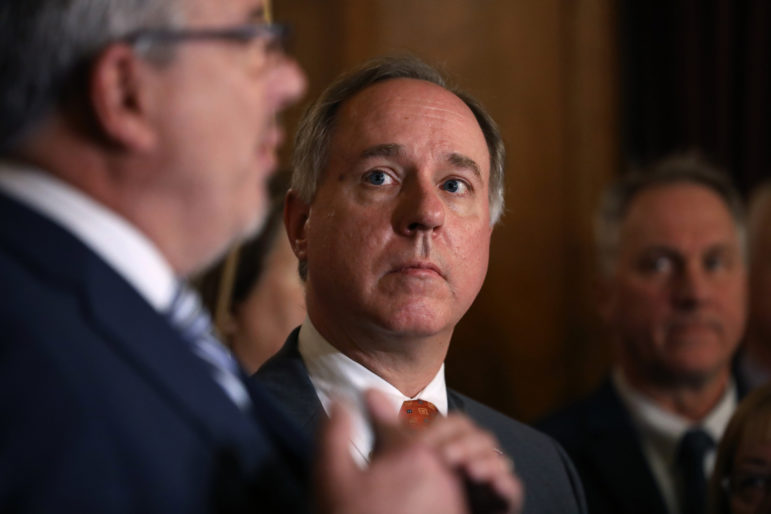Assembly Speaker Robin Vos, R-Rochester, has said he would support legalizing medical marijuana with a doctor's prescription but opposes recreational marijuana legalization. Here, he listens to Rep. John Nygren speak at a press conference on Dec. 4, 2018. Photo by Coburn Dukehart / Wisconsin Center for Investigative Journalism.