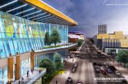 Wisconsin Center expansion rendering. Rendering by Populous.