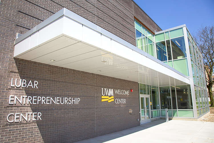 Lubar Entrepreneurship Center and Welcome Center. Photo by Pete Amland courtesy of UWM.