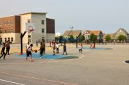 Parks and playgrounds are a vital part of the new Westlawn Gardens. This multi-sport complex at Browning School was funded by the Milwaukee Bucks and Johnson Controls. Photos by Mark Doremus/NNS.