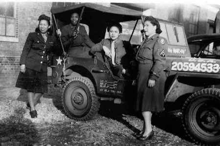"The ""Six Triple Eight,"" an African American women's Army Corps that deployed to Europe to clear the postal system's backlog, worked to ensure the approximately 65,000 letters were sent to their final destinations. Photo from the U.S. Department of Defense."