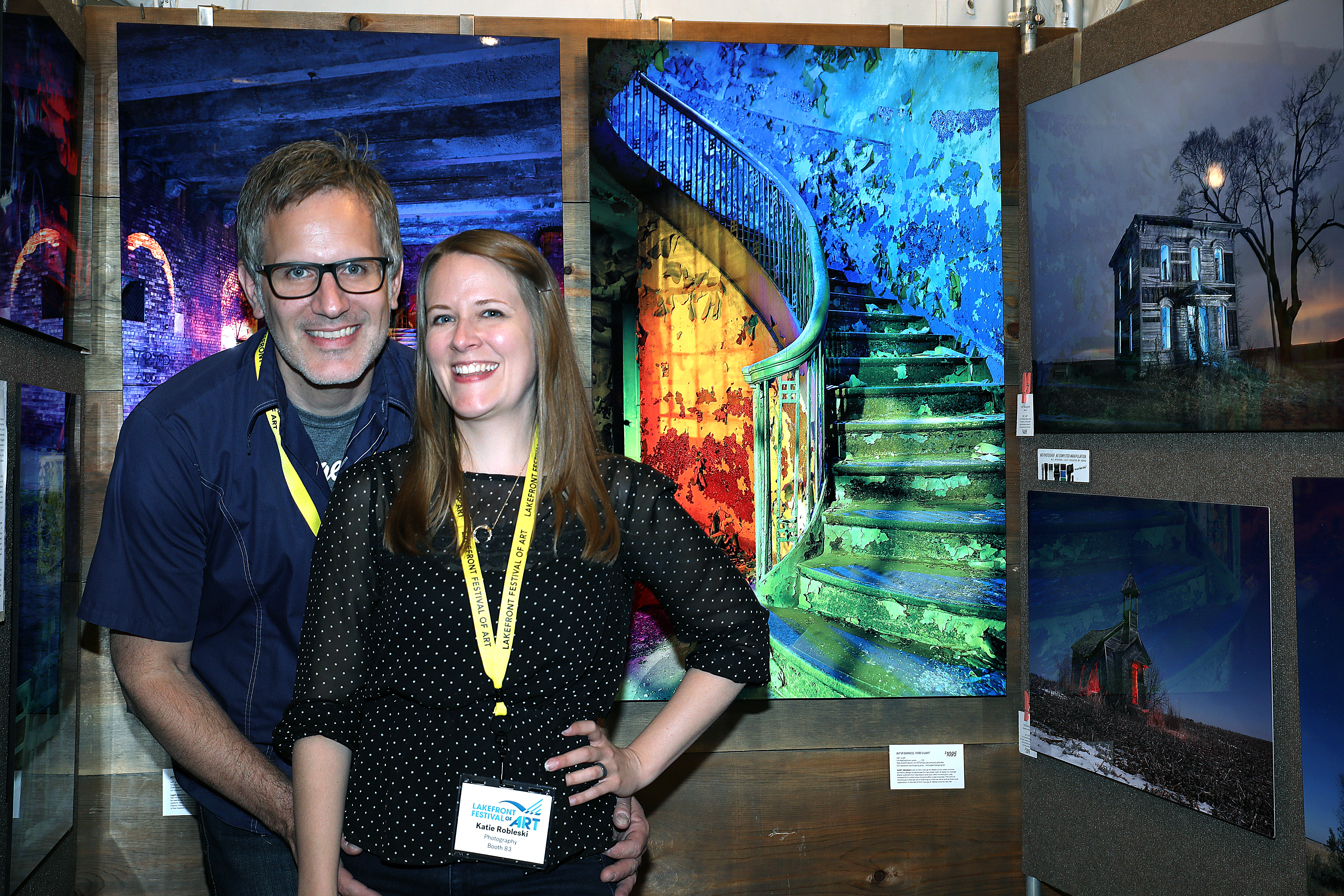 Photographers, Chris and Katie Robleski from Bay View. Photo by Erol Reyal.