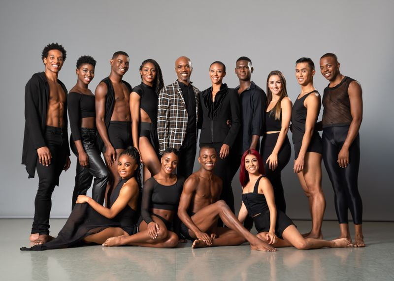 Ailey II with Artistic Director Troy Powell and Rehearsal Director Fana Fraser. Photo by Kyle Froman.