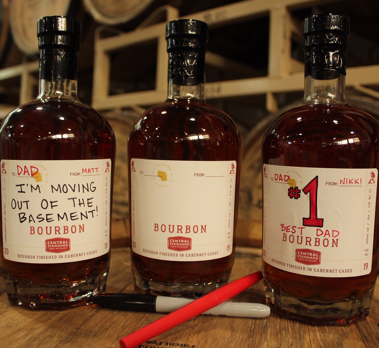 All New Name Your Own Bourbon for Father's Day. Photo courtesy of Central Standard Craft Distillery.