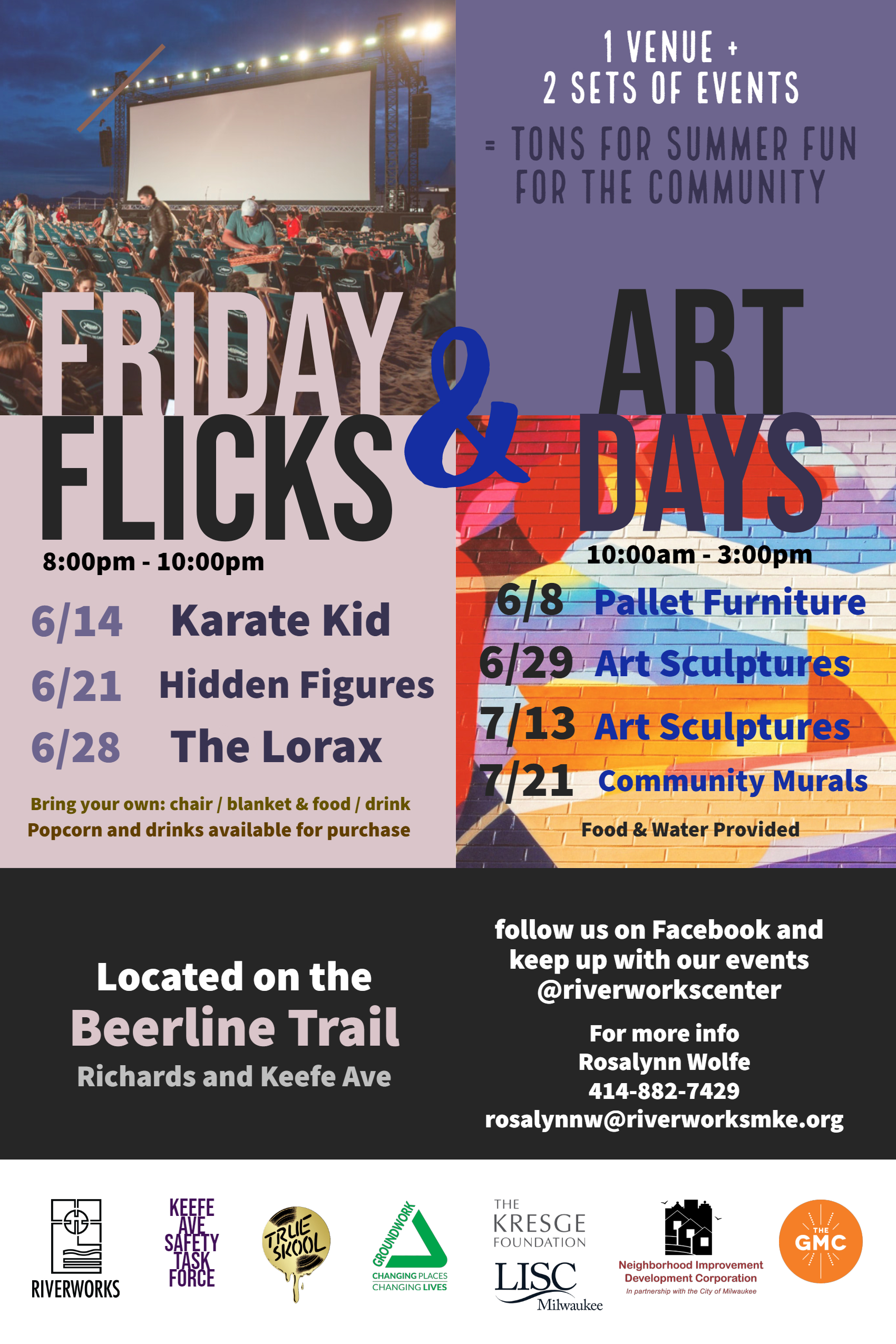 Riverworks, Groundwork Milwaukee and True Skool Hosts Art Days on the Beerline Trail