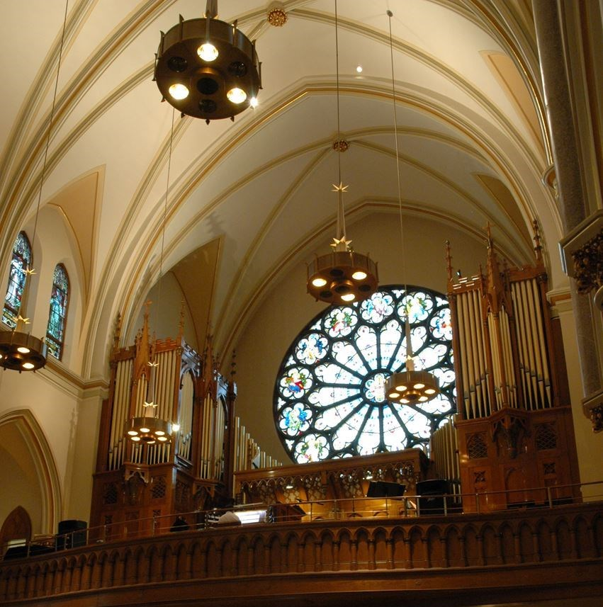 Organ - Church of the Gesu. Photo courtesy of the American Guild of Organists.