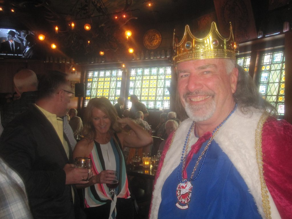 Jim Haertel dressed as King Gambrinus. Photo by Michael Horne.