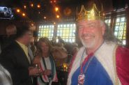 Jim Haertel dressed as King Gambrinus. Photo by Michael Horne.
