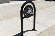 A new City of Milwaukee bike rack. Photo by Jeramey Jannene.