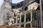 433 E. Michigan St. office building demolition. Photo by Jeramey Jannene.