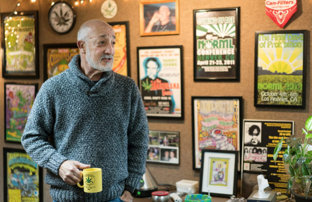 "Attorney Matthew Abel is one of Michigan's top marijuana advocates who founded the Cannabis Counsel law group in Detroit. Abel says the state's legalization of marijuana in 2018 for recreational use is good for people and the economy. ""It's an opportunity to do a lot of good work all at the same time,"" he says. Photo taken March 18, 2019. Photo by Viktor Tollemar for Wisconsin Watch."