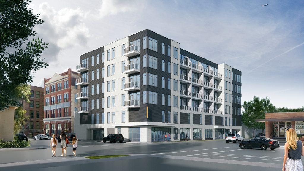 Quartet rendering. Rendering by Korb + Associates Architects.